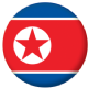 North Korea Country Flag 58mm Button Badge